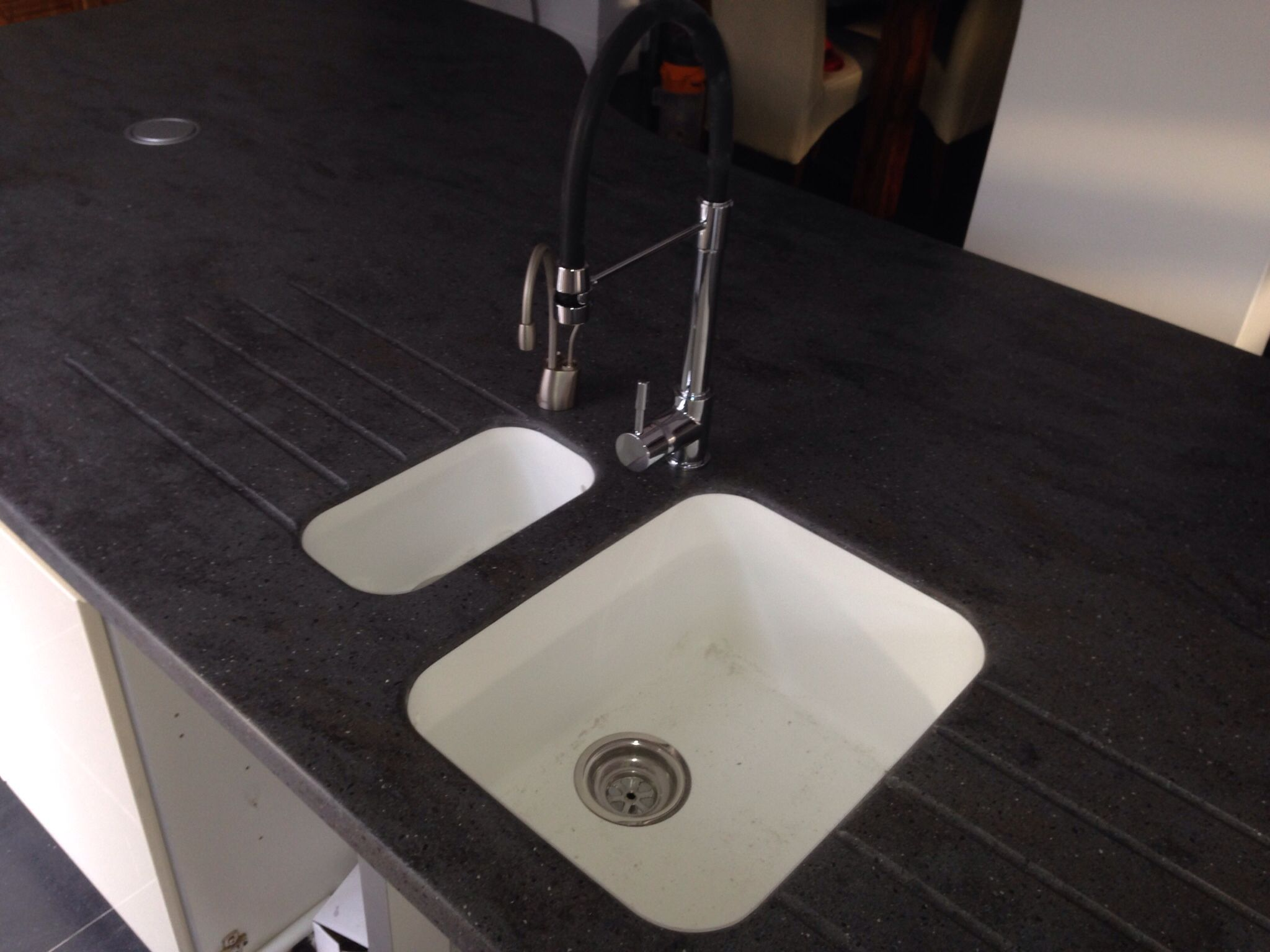 Corian Countertops With Integrated Sink Corian Lava Rock Worktops With Integrated Glacier White