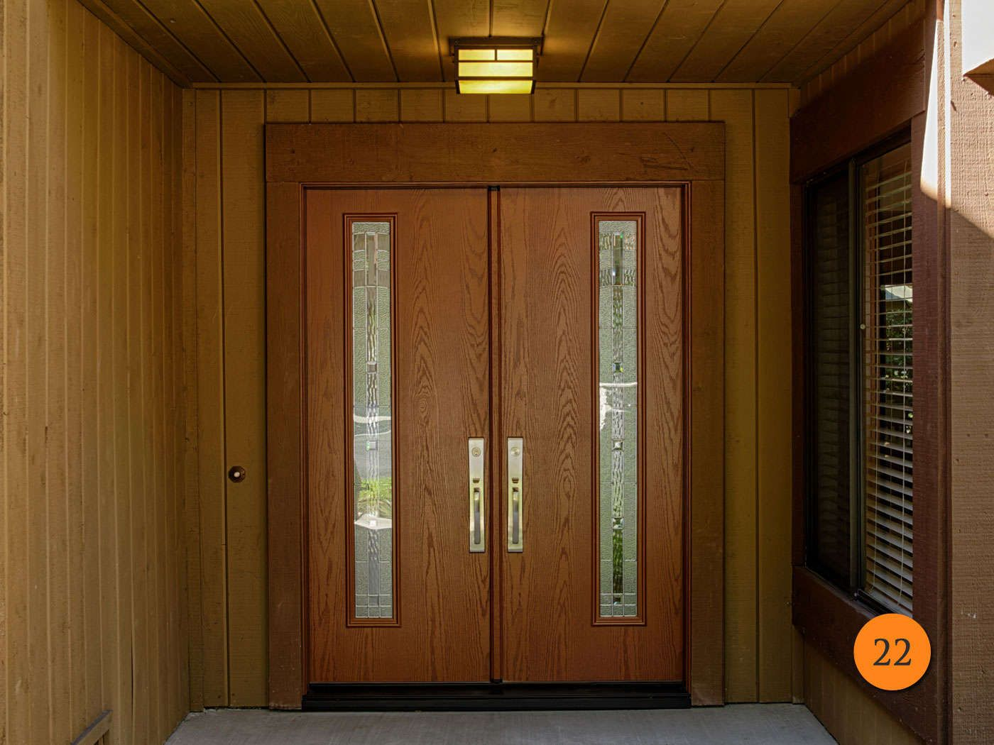 After modern 30 inch fiberglass double entry doors with 5 foot entrance therma tru
