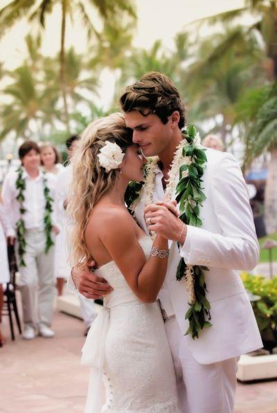All-White Destination Beach Wedding in Hawaii ...