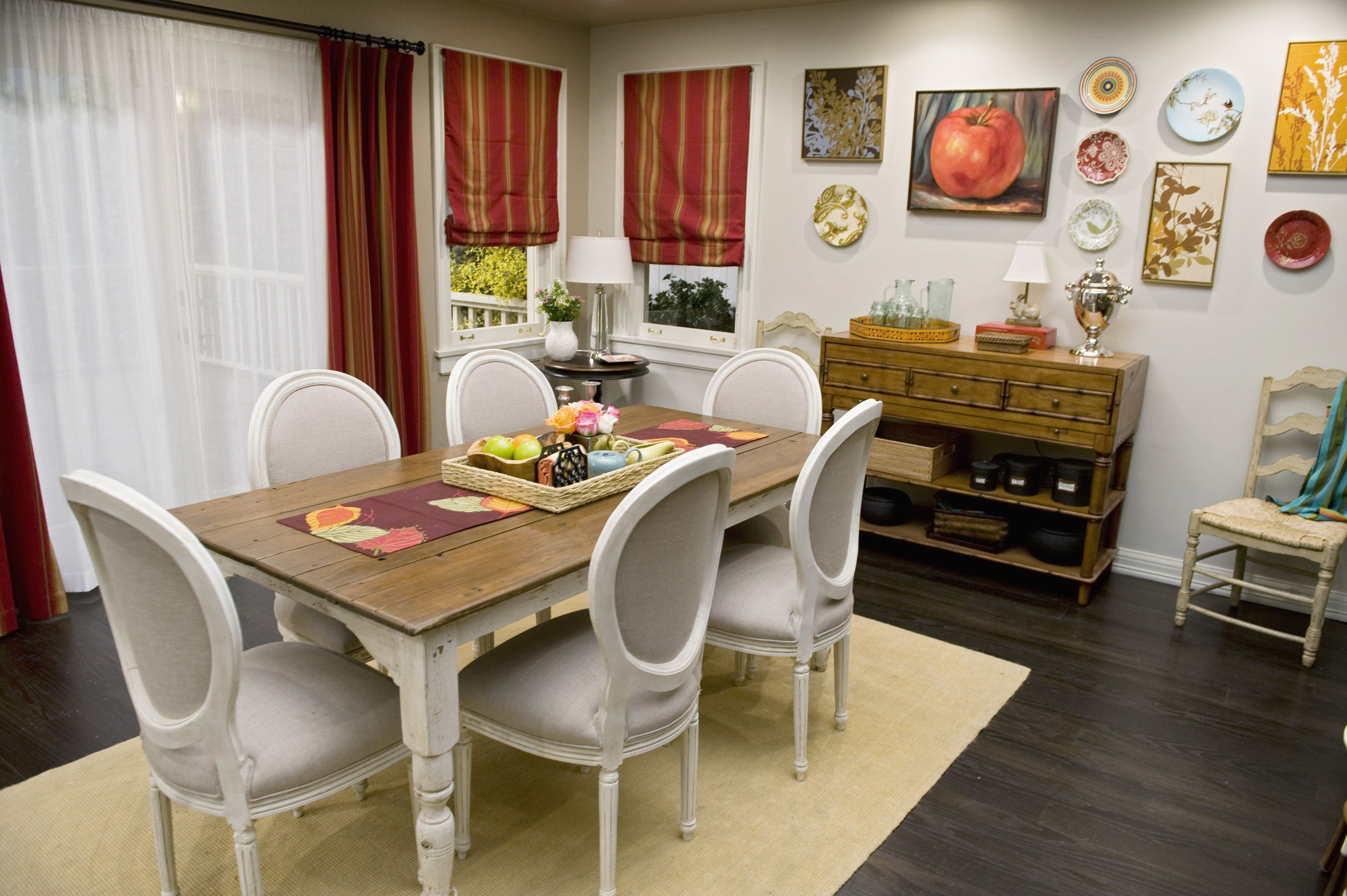 Dining room from modern family set like the wall eclectic mix of