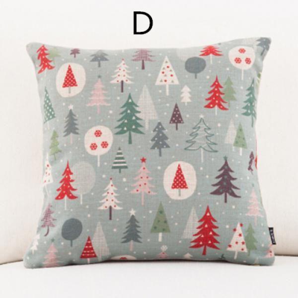 Cartoon christmas throw Santa Claus deer decorative pillows for - decorative christmas pillows