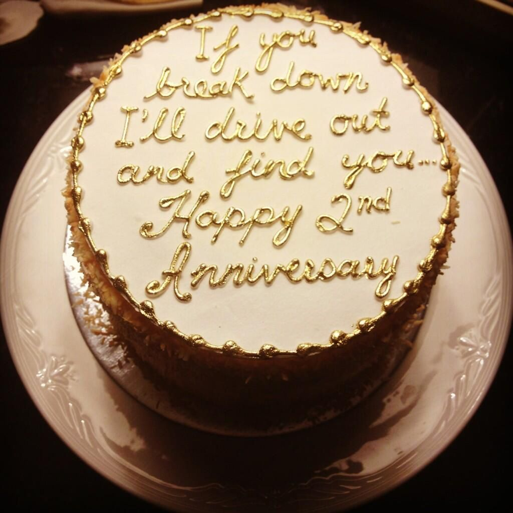 Frosting marriage anniversary cakesecond