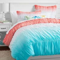 surf's up with this dip dye ruched bedding! | Bedroom ...