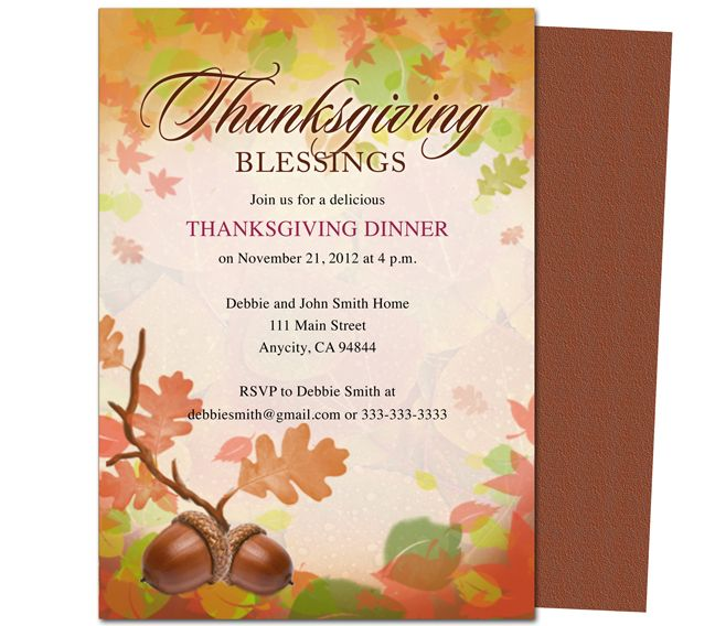 Free Thanksgiving Invitations Email thanksgiving Pinterest - dinner invitation template free