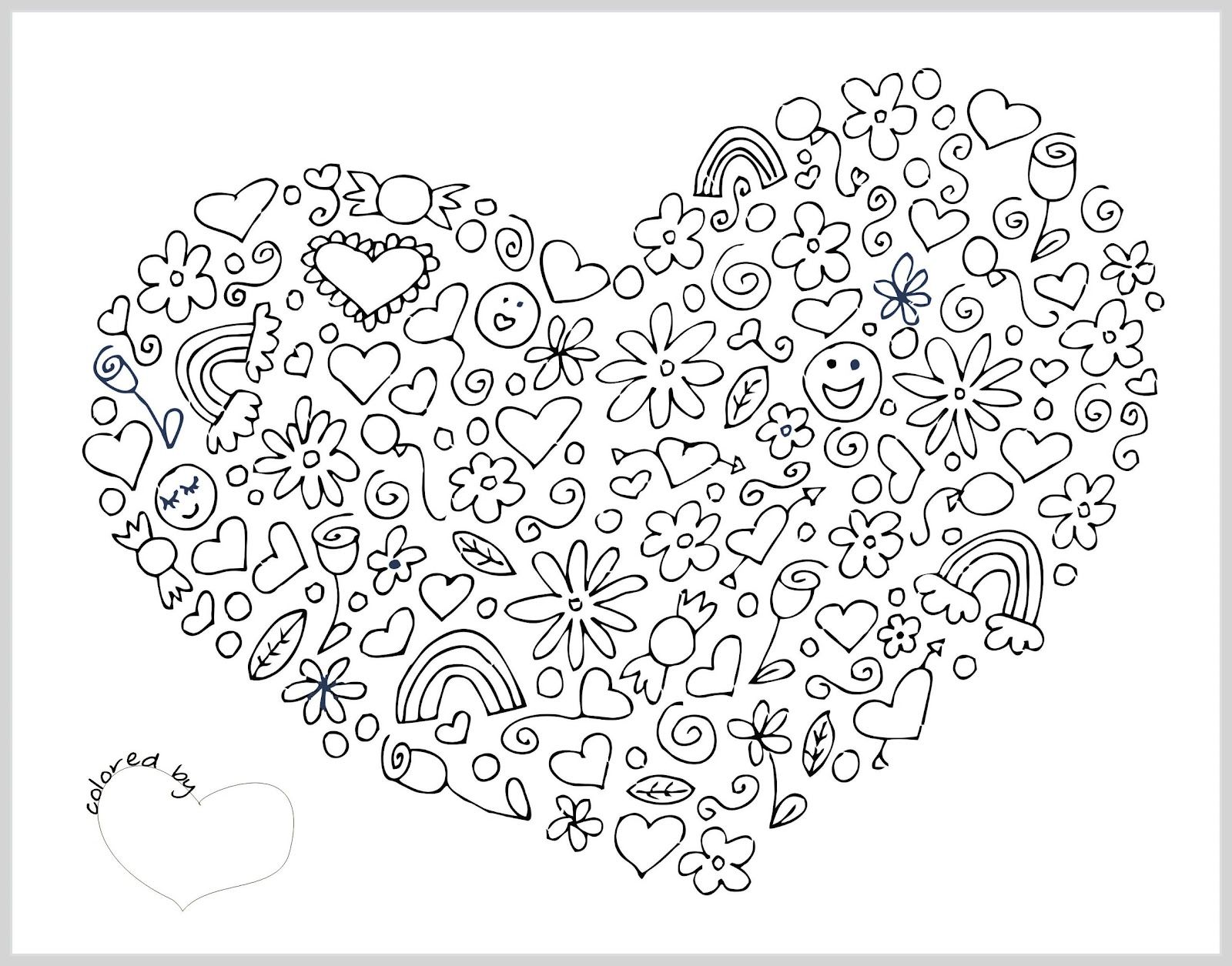 Collection of thousands of free valentine coloring page from all over the world