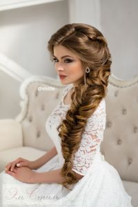 long braided wedding hairstyle via Elstile | Braided ...