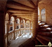 Inside view of the famous spiral staircase of Palazzo ...