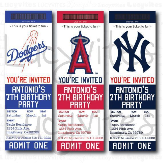 baseball team ticket invitation baseball baby shower pinterest D - printable ticket invitations