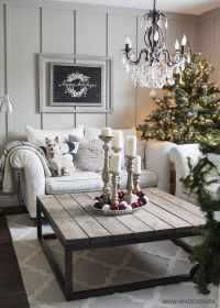 Most Breathtaking Christmas Living Room Decorating Ideas ...