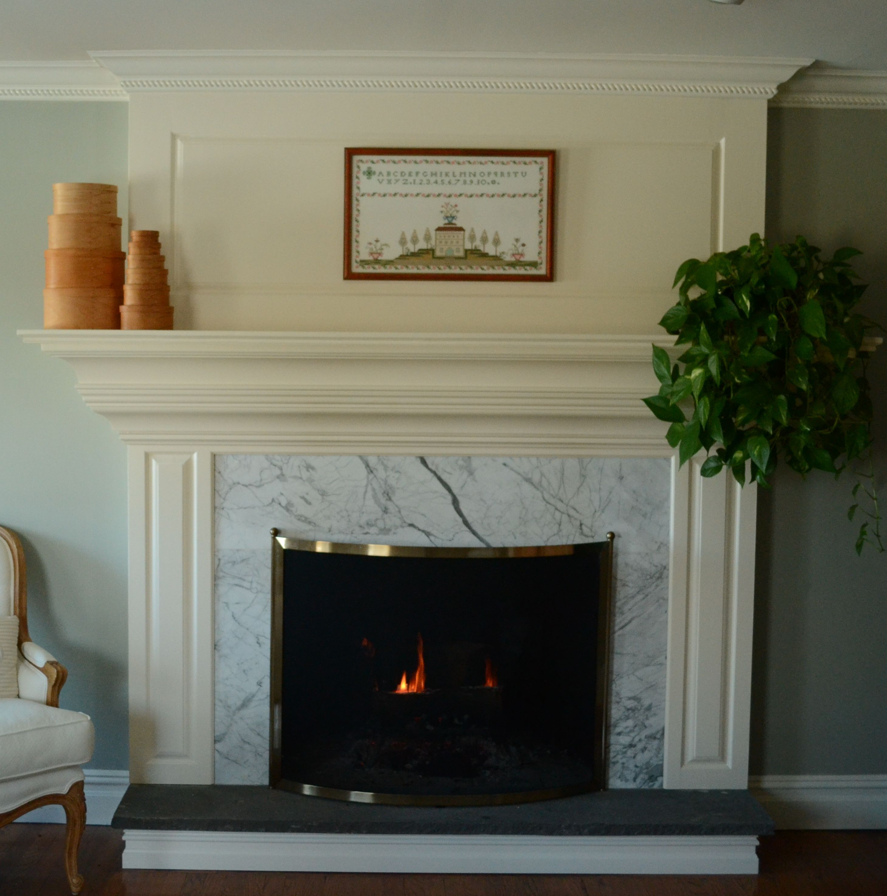 Fireplace Mantel White White Fireplace With White Tile Surround And Black Hearth