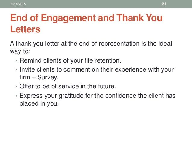 end engagement and thank you letters letter client for business - ending thank you letters