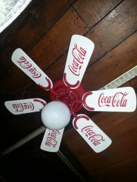 Coca Cola ceiling fan: Take any fan. Repaint the blades ...