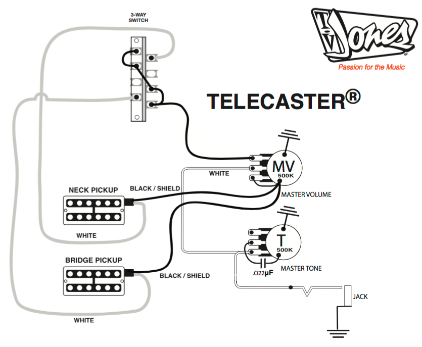wiring diagram for telecaster guitar