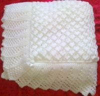 Stunning New Hand Knitted Baby Shawl Blanket 36 x 36 Ins ...