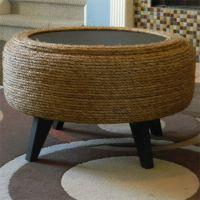 rope string tyre ottoman   DIY/ Decor   Pinterest   Tire ...