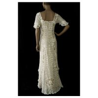 Irish crochet lace wedding dress, c.1912 found on Polyvore ...