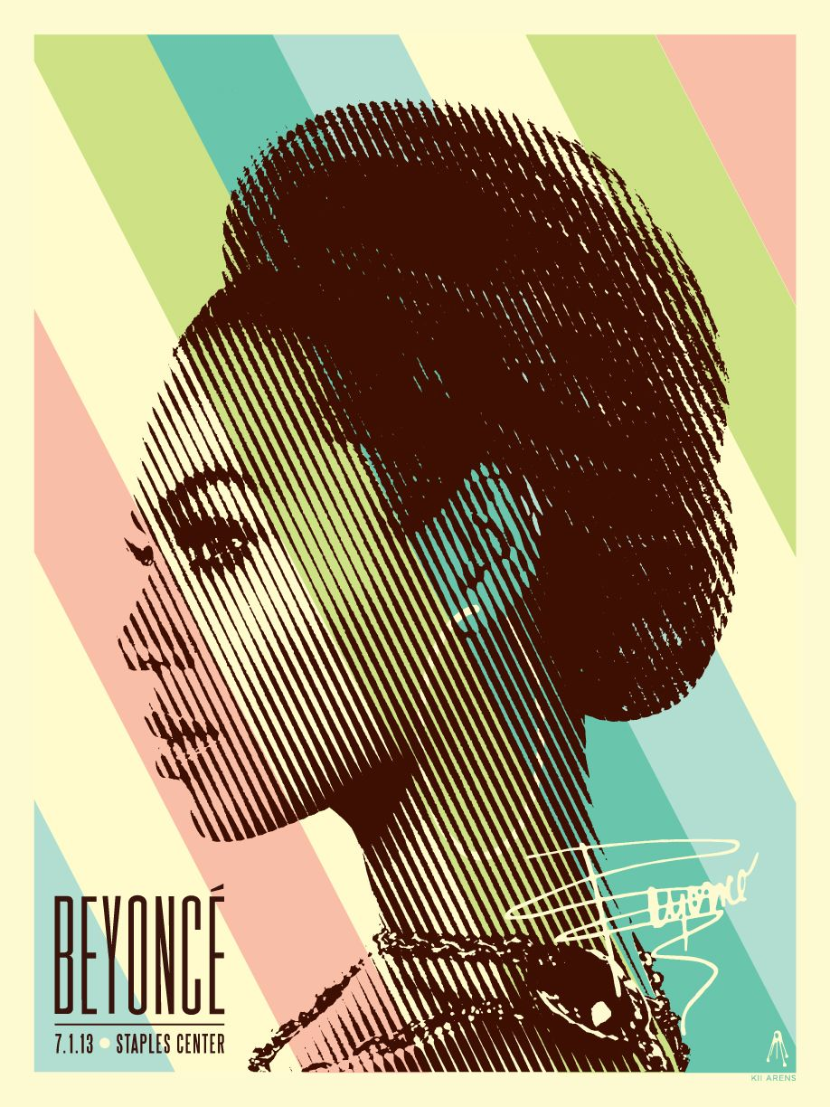 Beyonce at staples center posters by kii arens