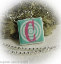 Letter C Ceramic Tile Recycled Upcycled by superioragates ...