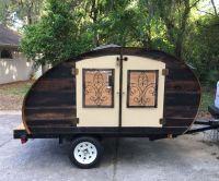 Reclaimed Wood Micro Teardrop Trailer | Teardrop trailer ...