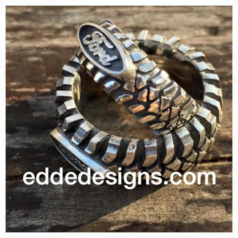 mud tire wedding ring Ford Rings