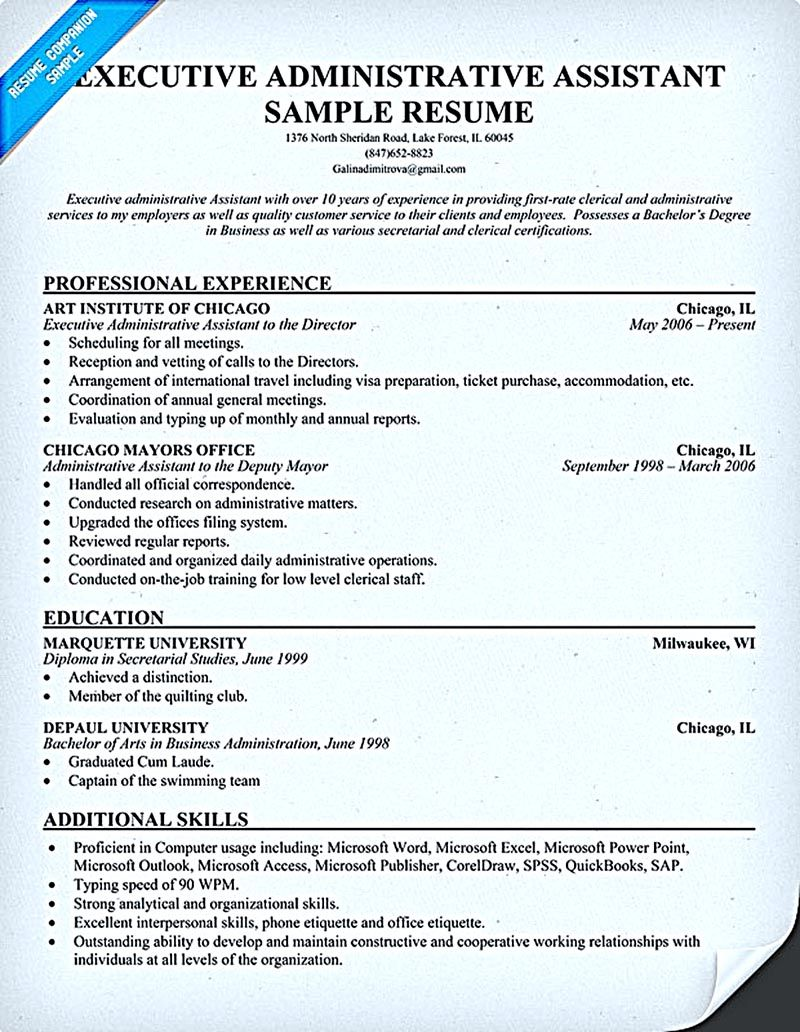 resume examples for virtual assistant