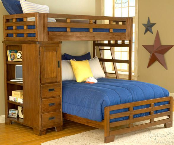Twin Over Queen Bunk Bed Queen/twin Bunk Bed | For The Home | Pinterest | Bunk Bed