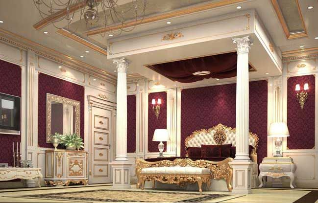 Luxury master bedroom design in classic style Luxury master - designer bedrooms