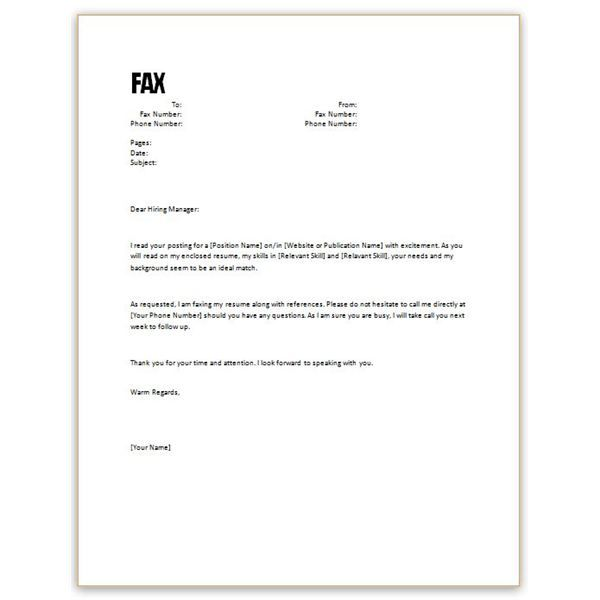 Free Resume Cover Letter Sample Free Microsoft Word Cover Letter - sample office fax cover sheet