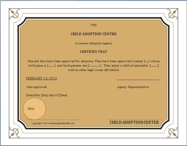 When a child is adopted, an amended birth certificate (ABC) is - birth certificate template