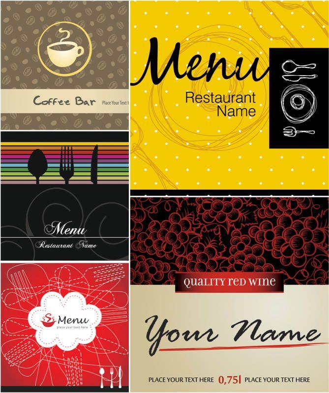 Funky restaurant menu templates vector Free Vector Graphic - free restaurant menu template word