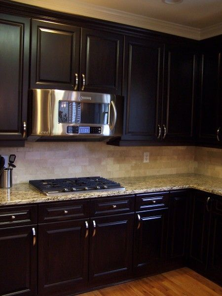 How To Stain Kitchen Cabinets Espresso Espresso-stained Kitchen Cabinetry. | Kitchen Cabinetry