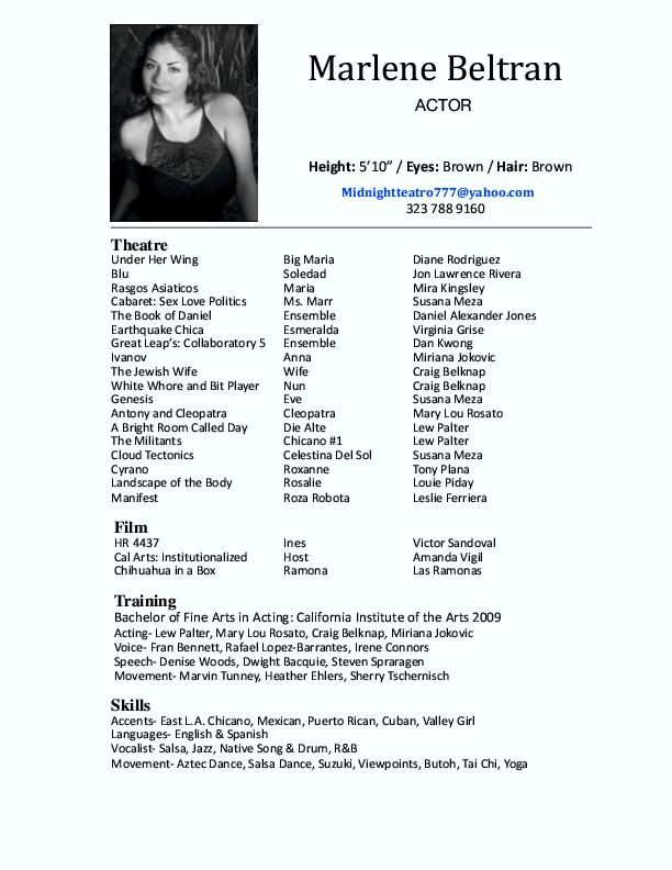 Actor resumes Acting Pinterest - professional actor resume