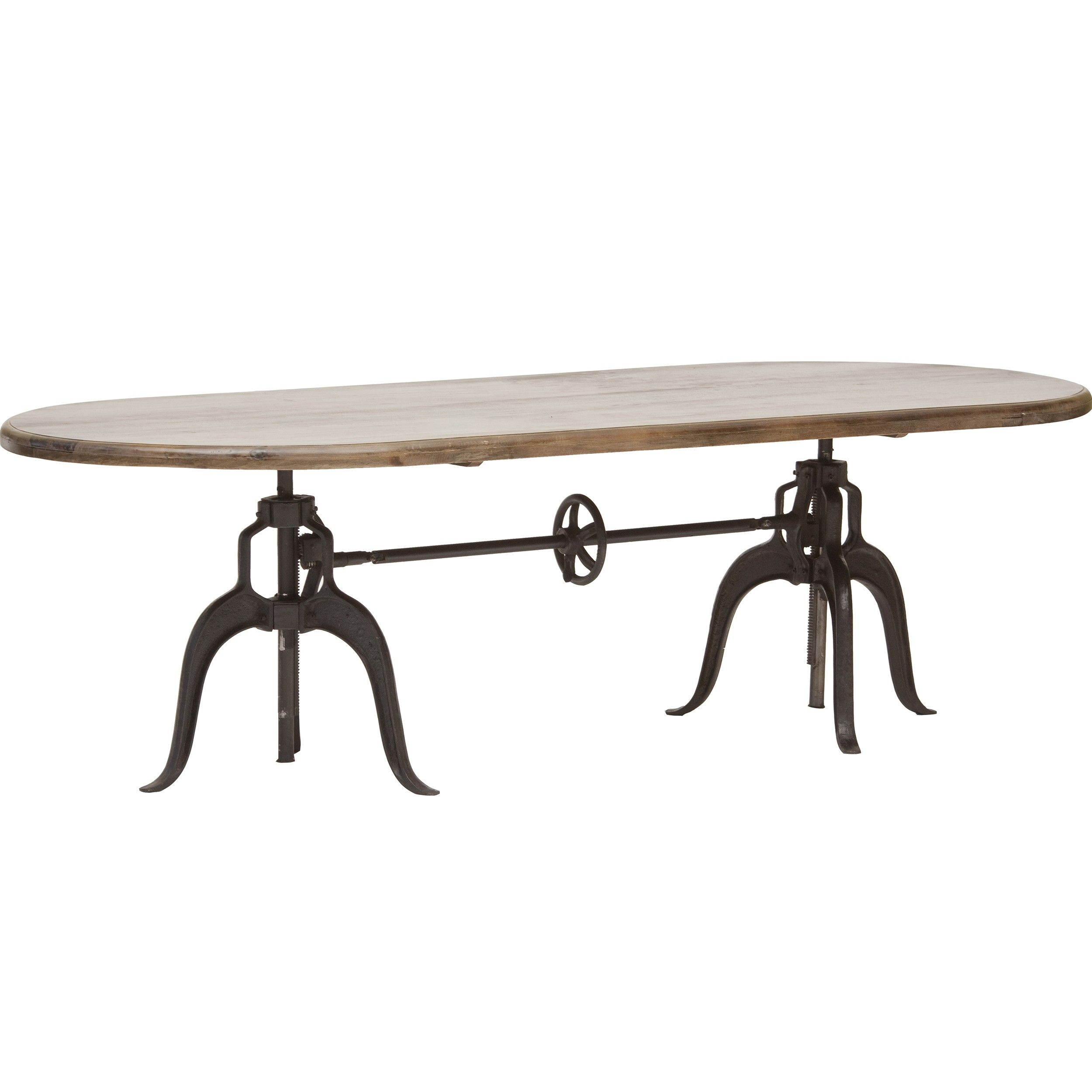 Double crank oval dining table 1 899 00 high fashion home