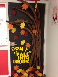 Don't Fall Into Drugs Door decoration for Red Ribbon Week ...