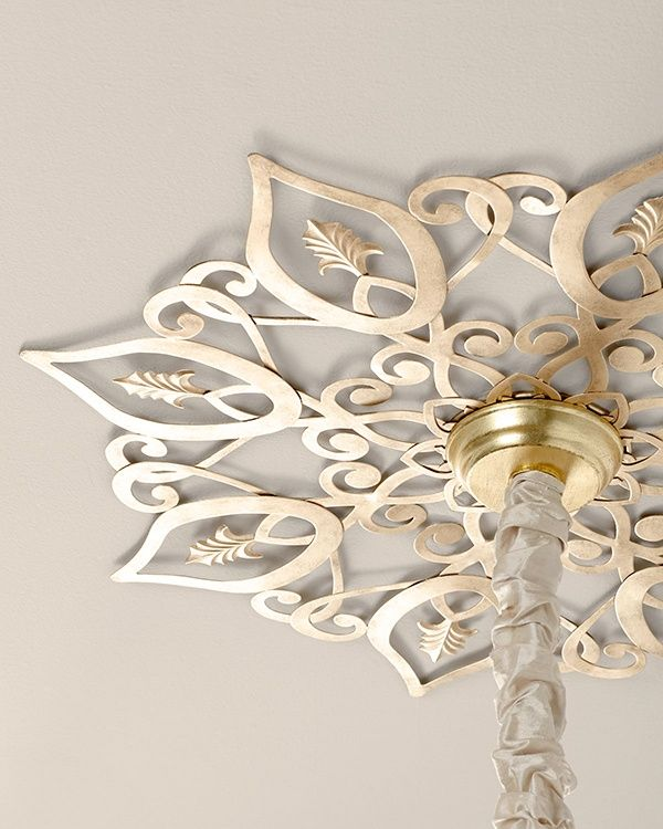 ceiling medallions for chandeliers diy