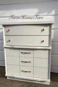 White Painted Dresser Chalk Paint Mid Century Modern ...