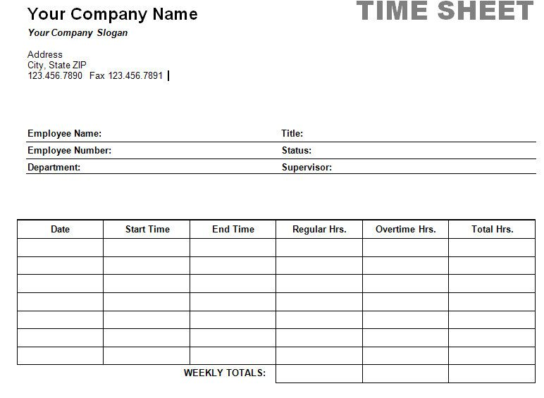 Sample Payroll Timesheet Blank Daily Timesheet Template Download - sample payroll timesheet