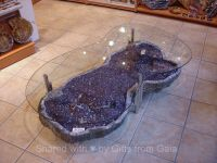 Amethyst Geode Coffee Table.....I WANT THIS.........MOM ...