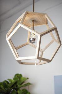 OAK WOOD PENDANT 20x20x20 themill.ca Hexagon wood ...
