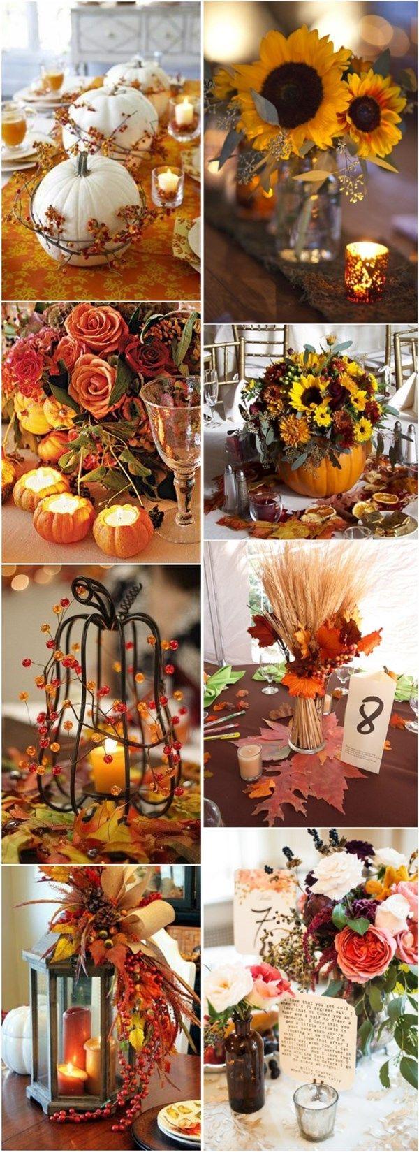 Fall Wedding Decor Ideas Autumn Fall Wedding Centerpieces