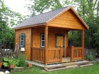 rustic sheds with porch | 10x16 | Outdoor screen house ...