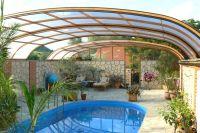 Retractable pool enclosure. Indoor or outdoor pool ...