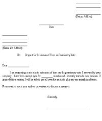 Sample Letter for Request for Extension of Time on ...
