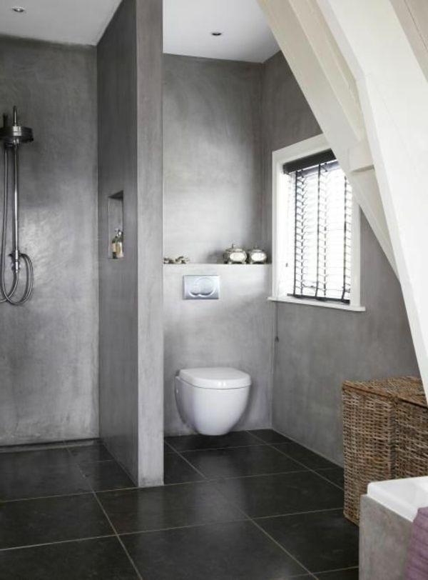 Wandfarbe für Badezimmer - moderne Vorschläge fürs Badezimmer - badezimmer in grau