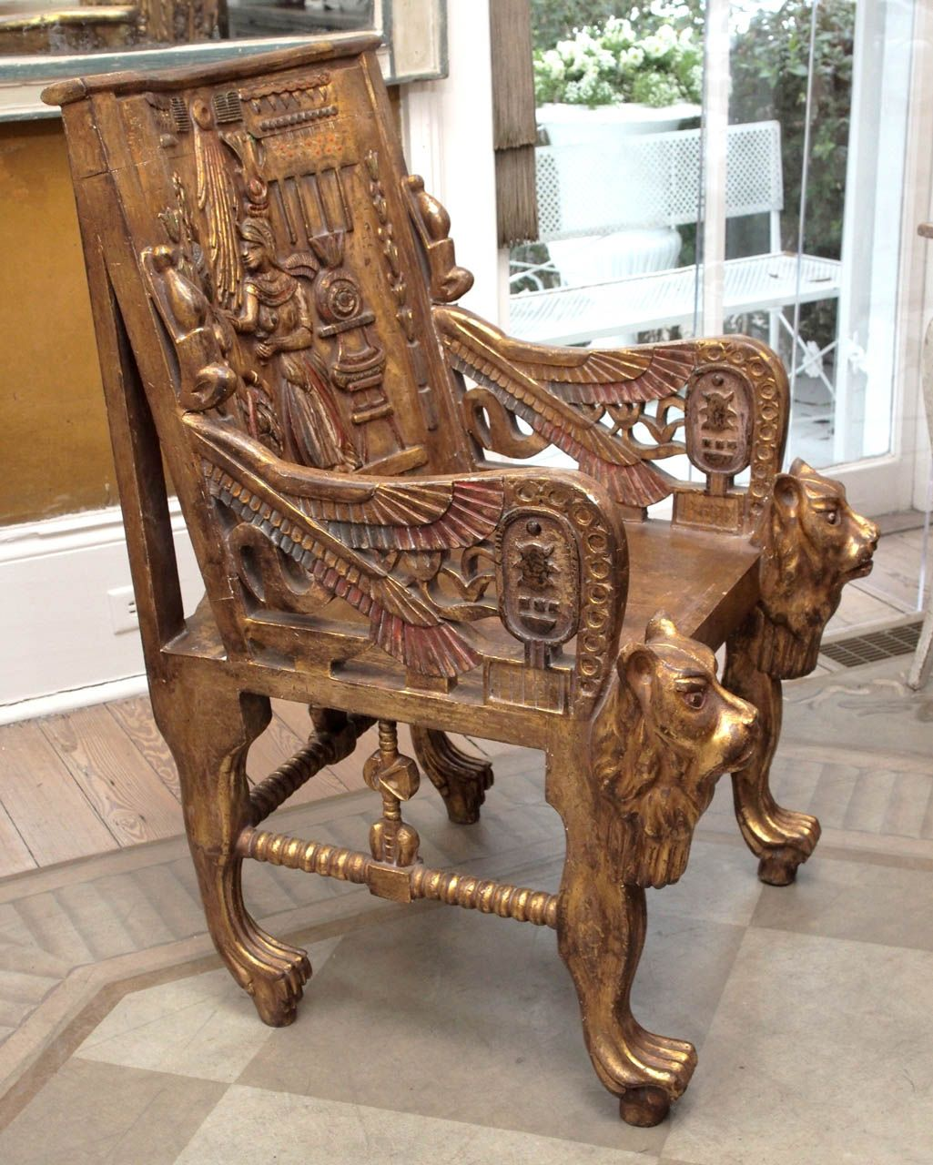 Steampunk Furniture For Sale Pair Of Egyptian Revival Giltwood Throne Chairs Throne