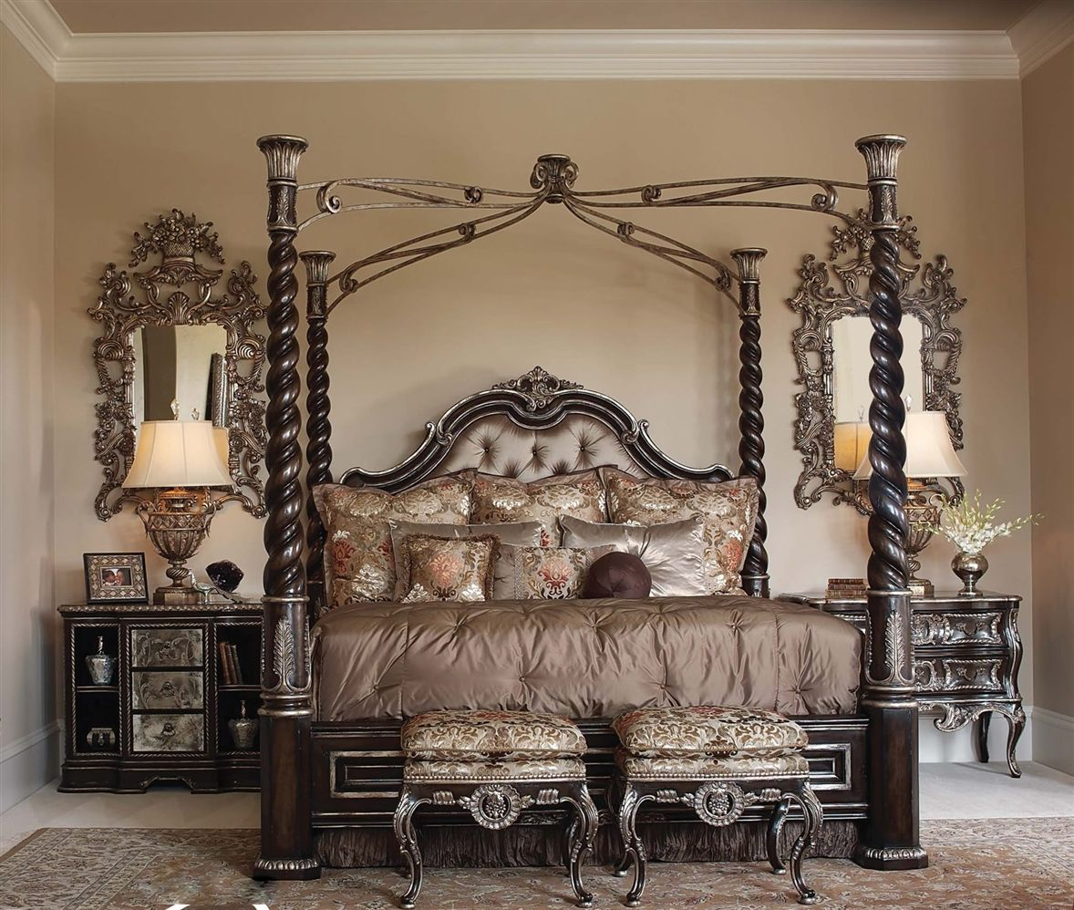 High Post Beds Tufted Headboard Four Post Bed High Style Rsf Home