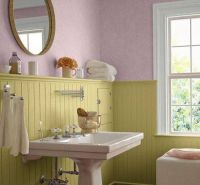 Wainscoting light green bathroom design The Different ...