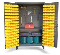 Upright Tool Storage Bin Cabinet - Bin cabinet with ...