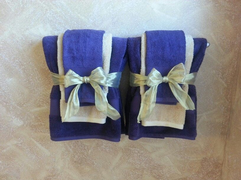 Decorative bathroom towels in purple and gold theme Decorating - decorative towels for bathroom ideas