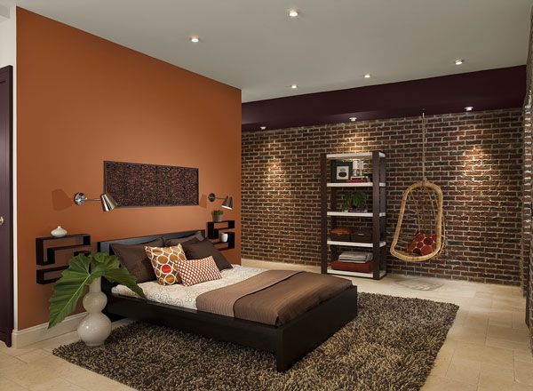 Dark orange paint colors for bedroom with dark furniture Home - paint colors for living room walls with dark furniture